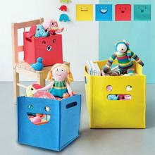 1Pcs Baby Kids Canvas Toys Box Storage Bags Dolls Dirty Clothing Laundry Basket Children's Shoes Sundries Storage Organizer 35