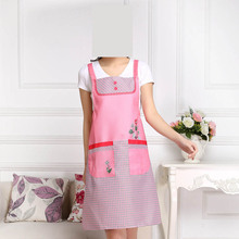 1PC Cartoon rose aprons lovely women aprons for cleaning cotton elegant anti-grease