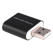 External USB 2.0 7.1 CH Virtual Audio Sound Card Adapter Converter Notebook for Windows XP/Vista/7/8 for Mac/Linux(China)