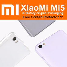 Mi5 case 2pc/lot 100% in factory original packaging for xiaomi mi 5 clear lucent soft ultra thin tpu silicone back cover 5.15""