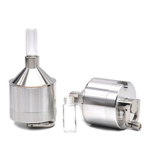 4 parts 56mm Aluminum Metal Powder Spice Grinder Spice Mill Grinder Tobacco Crusher with Glass Snuff Bottle(China)