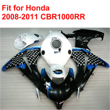 100% fit for HONDA injection mold CBR1000RR fairings 2008-2011 blue white black ABS fairing kit CBR 1000 RR 08 09 10 11 RT30