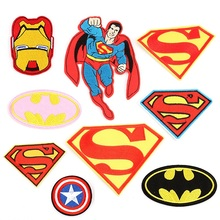 10pcs Superman Batman Ironman Captain America Hero Embroidered Patches Iron  On Sewing Applique Badge Clothes Patch 98c51a2819d0