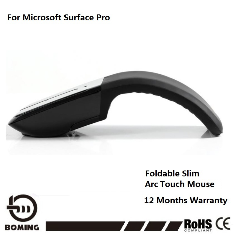Wireless Mouse Foldable Mouse USB Arc Touch Mouse For Microsoft Laptop Mice With Led Indicator Buy Mouse Free 1 Stylus Pen(China (Mainland))