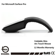 Wireless Mouse Foldable Mouse USB Arc Touch Mouse For Microsoft Laptop Mice With Led Indicator Buy Mouse Free 1 Stylus Pen(China)