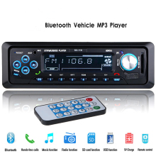 12V Car Radio Stereo Audio Player Bluetooth Phone AUX-IN MP3 FM/USB/1 Din/Remote Control Autoradio(China)