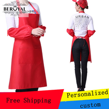 Home Apron Personalized custom Bid Embroidery for Gift OR Commemoration Cleaning Cloth for Adult(China)