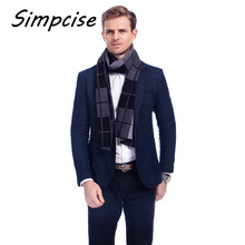 [Simpcise] 2017 New Brand Winter Scarf Men Scarves For Christmas Gift 3 Colors Plaid Scarf Flexible Acrylic Men Wraps A3A18904(China)