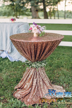 Sparkly Gold Sequin TableCloth Cake table/cocktail Weddings Parties beautiful Champagne Shiny Sequin Tablecloth Wedding Parties(China)