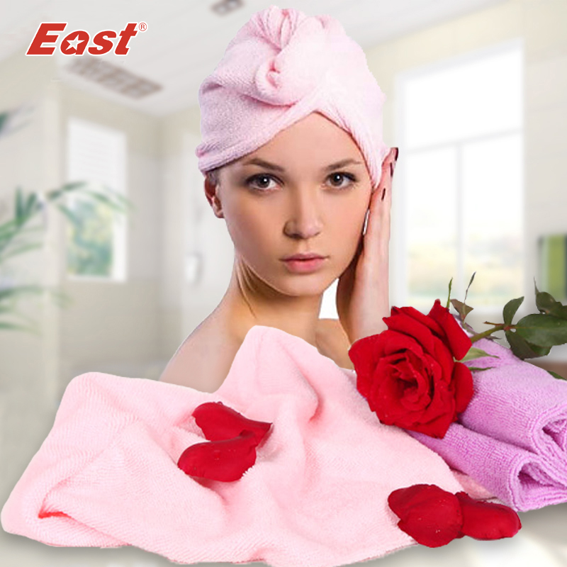 East Shower cap hair head hat for dry wash wrap waterproof bag set bathroom product 2 pcs/lot(China (Mainland))