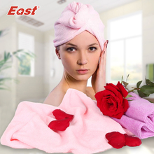 East Shower cap hair head hat for dry wash wrap waterproof bag set bathroom product 2 pcs/lot(China)