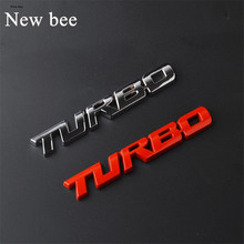Newbee 3D Metal TURBO Emblem Car Styling Sticker Body Rear Tailgate Badge for Charger Silverado Ford Focus Fiesta Mondeo Fusion(China)