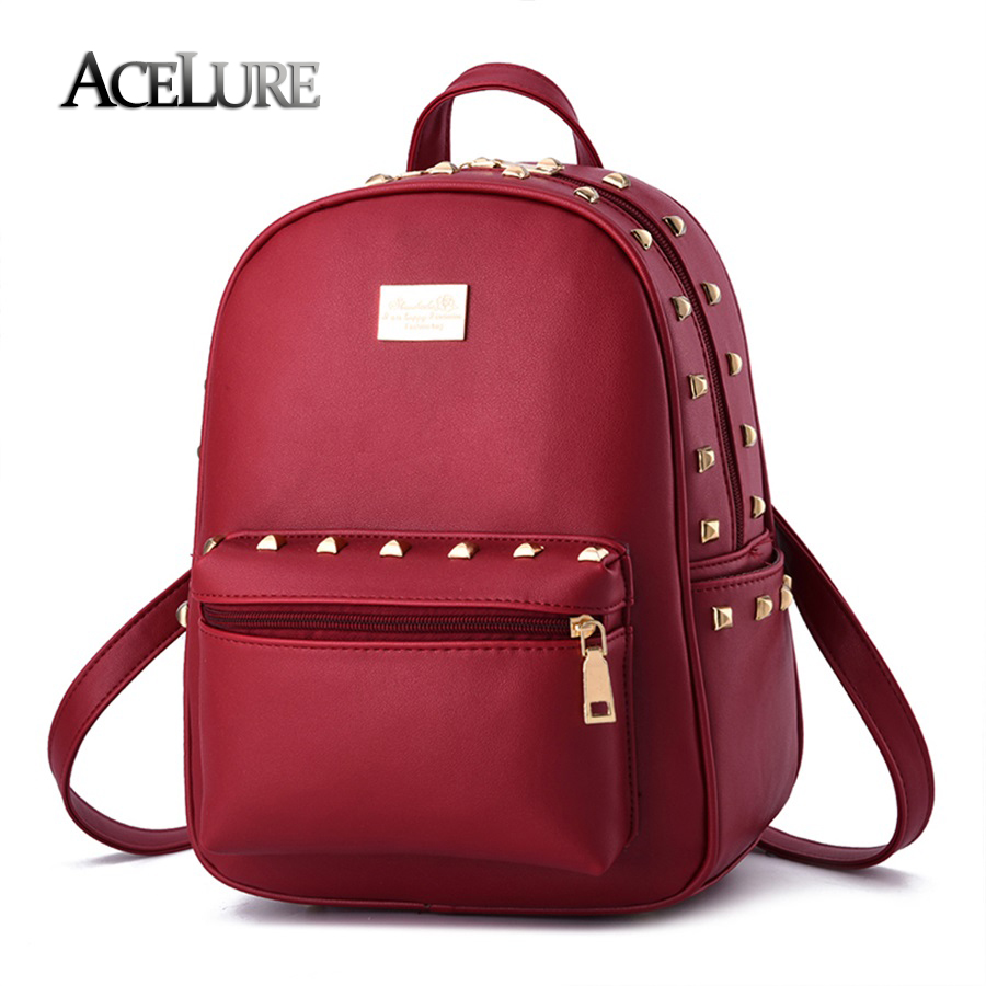 Female students backpack 2017 new pu leather Fashion Shoulder bag casual Korean high quality women bag temperament lady backpack<br><br>Aliexpress