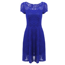 Summer Dress Lace Dress Short Sleeve Party Fashionable Lace Sexy Elegant Dresses Ladies Mujer Clothes Bodycon Vestidos 2017 Blue