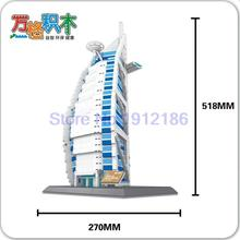 1307Pcs The Burj Al Arab Hotel of Dubai Structure Building Blocks Educational Wange Building Block Compatible With lepine 8018(China)