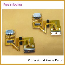 50pcs /lot Original  For Sony Xperia Tablet Z SGP311 SGP312 USB Charging Port Dock Connector Complete Flex Cable, Free Shipping
