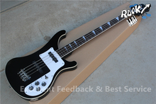 China Guitar Factory Ricken 4003 4 Strings Bass Electric Guitar Black Color with Logo on Headstock For Sale