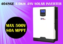 5kva 4000w Solar inverter 230vac 48vdc + 80A MPPT solar charger with PV input 500vdc + battery charger