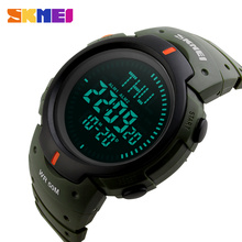 SKMEI Brand Men Sports Compass Watches  Waterproof Digital Outdoor Military Watch EL Backlight Compass Countdown Wristwatches
