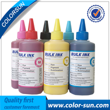 Hot Sell 6 Colors(CMYKLCLM) Sublimation Ink for Epson Printer Use for T-shirt/ Phone case/ Ceramics Pottery/ Mouse pad/ Cup