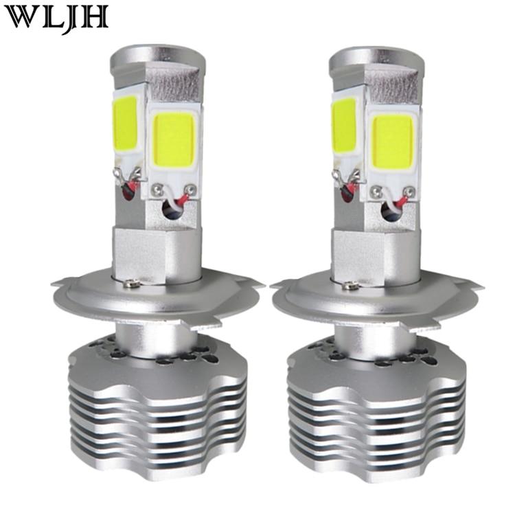 WLJH 2x 96W 13000LM 4 Side COB Chip H4 Led Car Headlight Kit 12v 24v Auto Motorcycle Head Light Lamp High Low Beam HeadLamp Bulb<br><br>Aliexpress