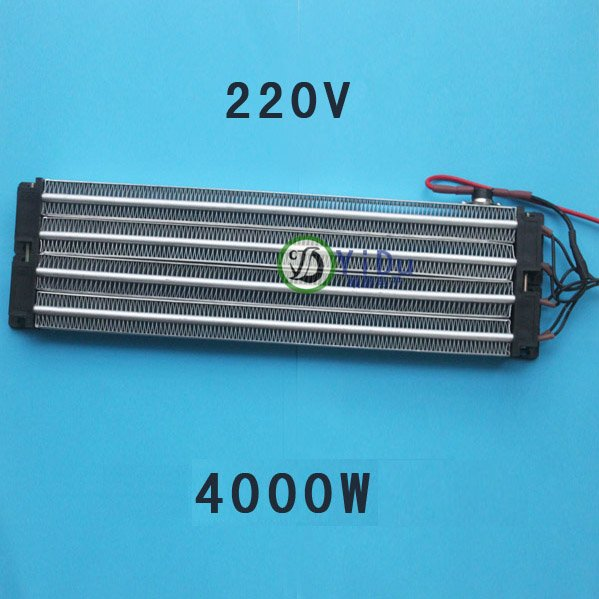 4000W ACDC 220V Insulated PTC ceramic air heater 380*102mm<br>