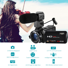 "Andoer HDV-Z20 1080P Full HD 24MP WiFi Digital Video Camera Camcorder w/Microphone 3.0"" Touchscreen Remote Control 16X Zoom(China)"