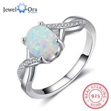 Buy 8mm Oval Cream Opal Stone Finger Ring Genuine 925 Sterling Silver Rings Women Fashion Wedding Jewelry (JewelOra RI102866) for $7.99 in AliExpress store