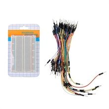 Newest !! Top Selling 400 Points Solderless Prototype Board Electronic Deck Test Board + 65pcs Breadboard Tie Line Wire Cable