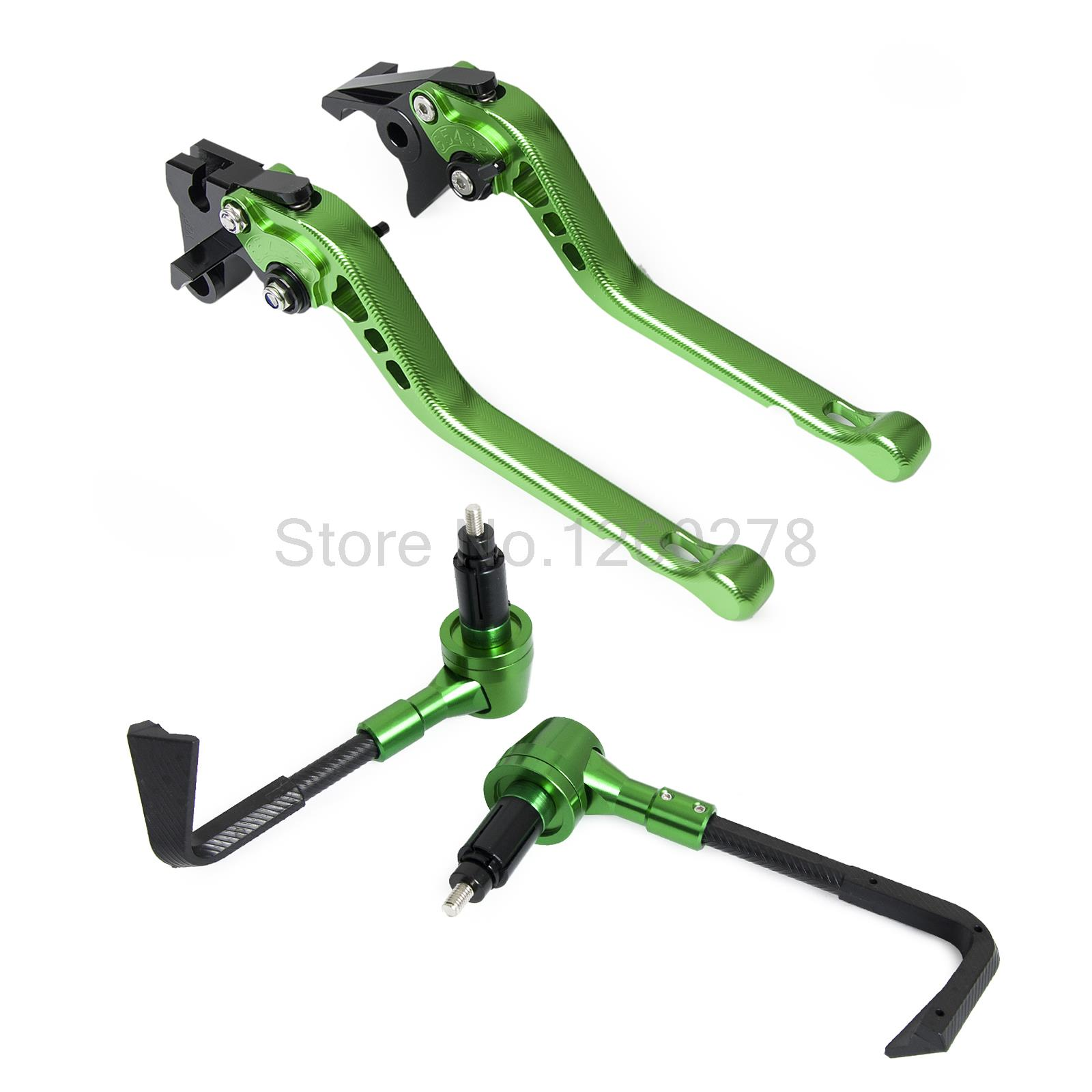 Adjustable Brake Clutch Lever with Protector Guard For Kawasaki ZX-6 1990-1999<br>