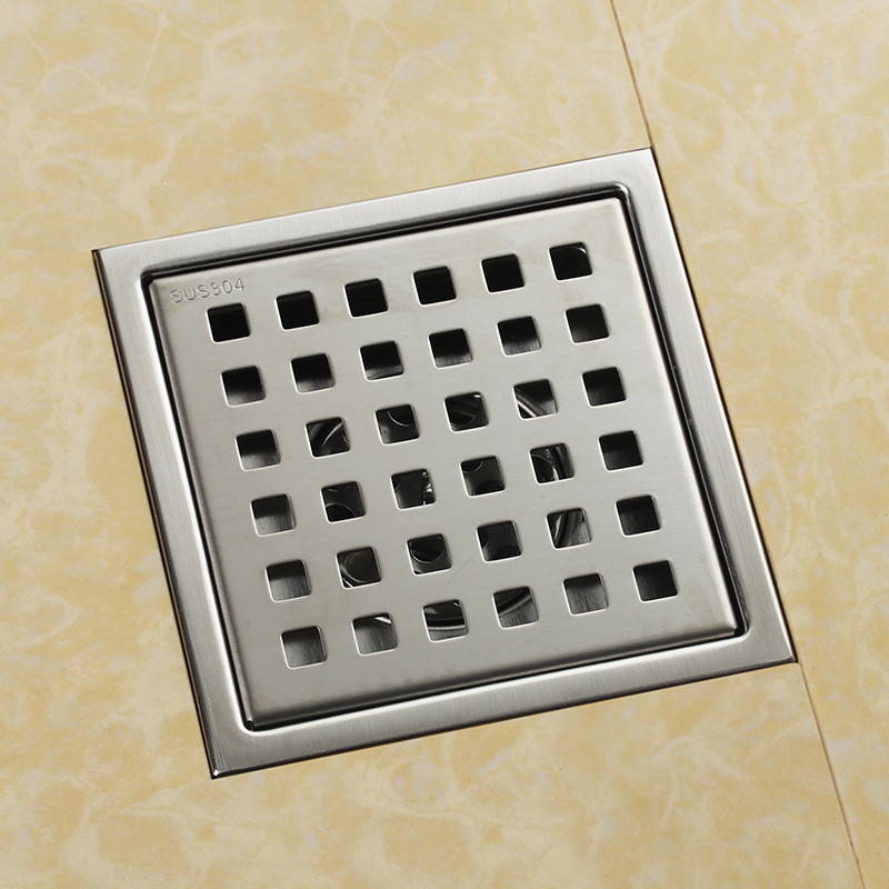 High-quality-304-solid-stainless-steel-150-x-150mm-square-anti-odor-floor-drain-bathroom-shower