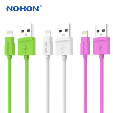 Original NOHON 8 Pin USB Cable 1.5M For Apple iPhone 6 6Plus 5 5S 5C iPad 4 Air iPod Nano iOS 8 Fast Charging Data Sync Cables