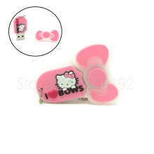 Pink Hello Kitty bows shaped usb 2.0 flash disk drive memoria Stick pen drive personalizado 4GB 8GB 16GB 32GB Genuines pendrive