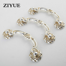 2PCS/Lot Free Shipping Small Drawer Handle Antique Furniture Cabinet Door Handle Cabinet Zinc Alloy Double Handle(China)