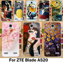 Mobile Phone Cases For ZTE Blade A520 Cover A 520 BA520 5.0 inch Cases Cool Cute Stylish Soft TPU Silicon Skins Bags Shell