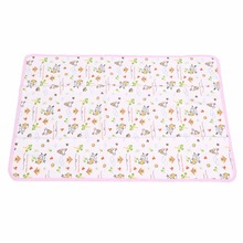 50*70CM Cotton Baby Urine Pad Cover Waterproof Portable Changing Mat Reusable Diaper Nappy Changing Cover For Infant Child Bed(China)