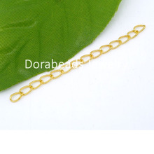 DoreenBeads 100 PCs gold color Extended&Extension Jewelry Chains/Tail Extender 50x3mm (B04931)