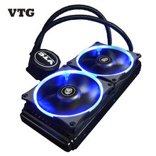 2017 VTG240 Liquid Freezer Water Cooler Liquid Cooling System CPU Cooler Fluid Dynamic Bearing 120mm Dual CPU Cooling Cooler Fan(China)