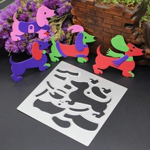 Dog Metal Cutting Dies For Scrapbooking Stencils DIY Album Cards Decoration Embossing Folder Die Cuts Mold