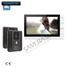 "HOMSECUR 9"" Hands-free Video Intercom System + Outdoor Monitoring Brings Greater Convenience(China)"