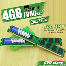 New 4GB(2pcs2GB) DDR2 PC2-6400 800MHz For Desktop PC DIMM Memory RAM 240 pins For AMD System High Compatible