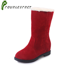 Women boots 2017 fashion new arrivals warm Ladies winter boots plus velvet snow boot ,A pair of shoes, two kinds of wear 35-40