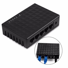 10/100Mbps 5 Ports Fast Ethernet LAN RJ45 Vlan Network Switch + Charger US/EU Plug(China)