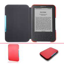 Ultra Slim leather Cover Case for Capa Amazon Kindle 3 3rd Gen Keyboard eReader Kindle3 Flip folio book Cover magnetic Case(China)