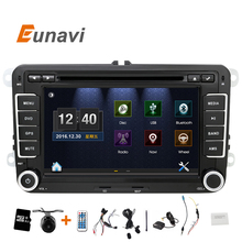Eunavi 2 DIn Car DVD 7'' HD For  VW POLO GTI GOLF 5 6 MK5 MK6 JETTA PASSAT B6 Touran Sharan With GPS Navigation Radio RDS