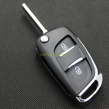 LinHui for PEUGEOT 307 New Key Shell 2 Buttons Uncut Blank Cooper Blade Modified&Replace Car Key ABS Shell 1 PC No Groove