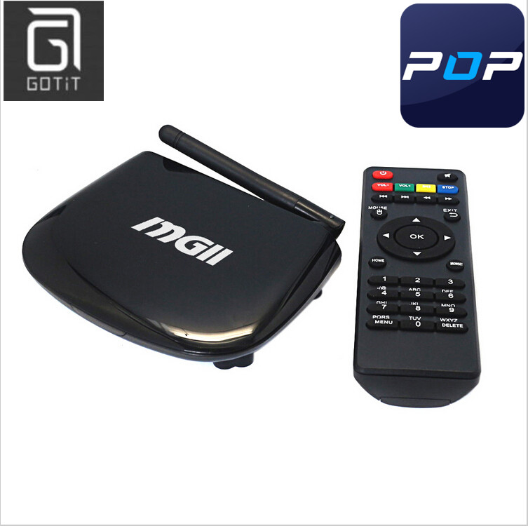Arabic POPTV GOTiT MGII Android TV Box with 1 Year Europe IPTV account to watch 700+ France Spanin Turkish PayTV Channels<br><br>Aliexpress
