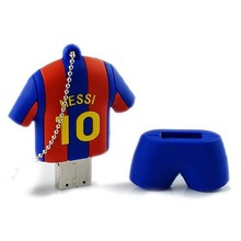 Fashion Pendrive 128GB Pen drive 64GB Barcelona soccer Jersey Barca Messi USB Flash Drive 32GB 16GB 8GB USB 2.0 Memory Stick(China)