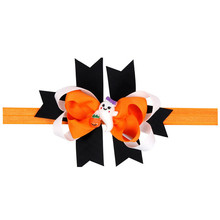 FEITONG Girl Halloween Headdress Elastic Hair Band fashion handmade ribbon bow headband for Boy Girl Birthday Party Celebration(China)