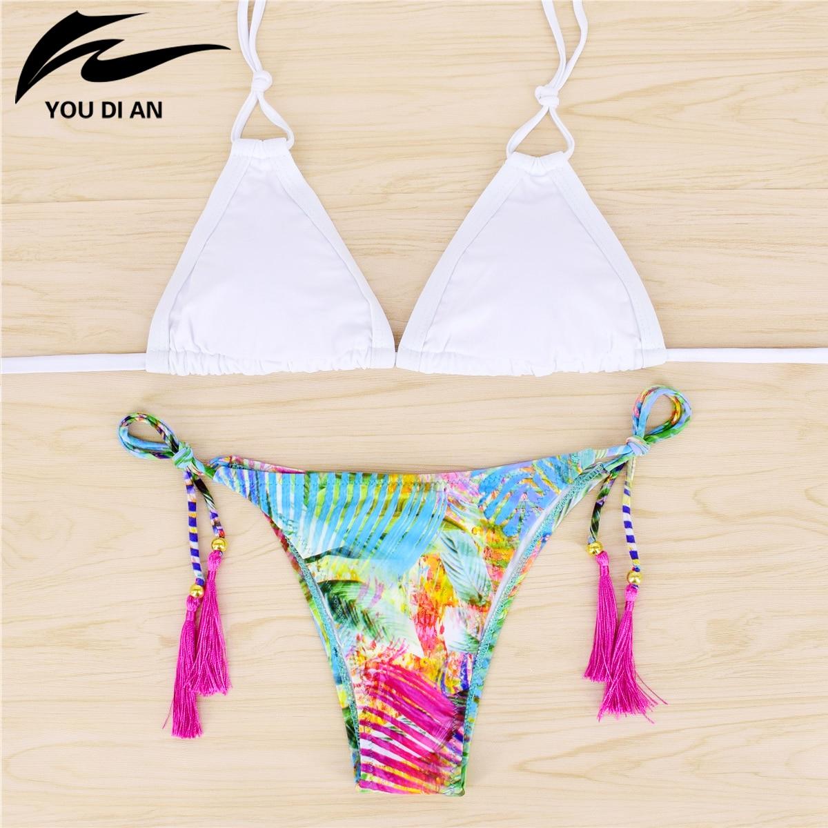 Bikini Mujer Retro Print Biquinis Quick-Drying Bathing Suit Women Washable Bikinis Women 2017 Swimwear Swimsuits Women Costume<br><br>Aliexpress